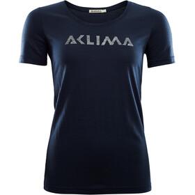 Aclima LightWool Bluzka z krótkim rękawem Kobiety, niebieski